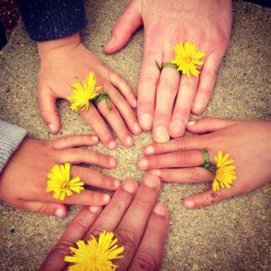 Alle Hände einer Familie